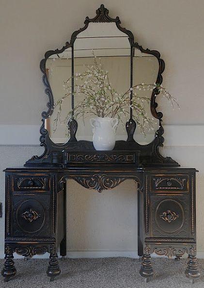 http://www.hometalk.com/1420436/vintage-vanity-in-black