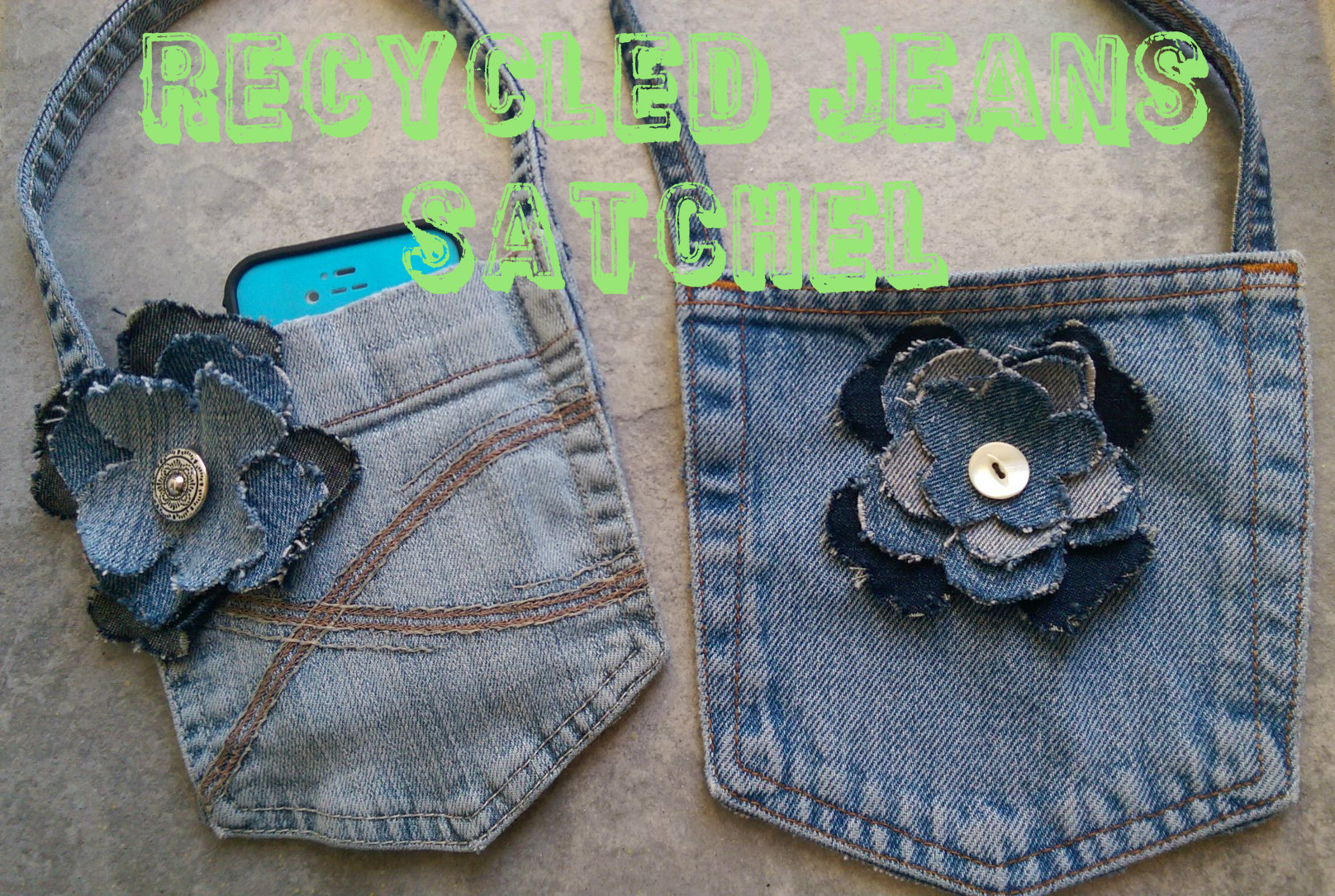 Recycled Jeans Satchel