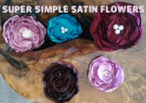 Simple Satin Flowers