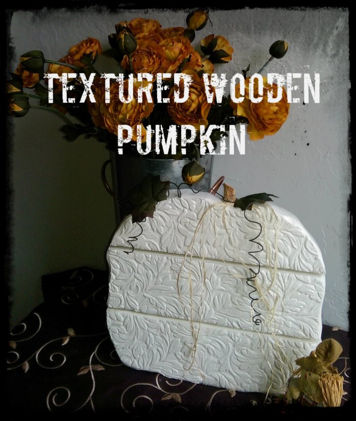 Textured Wooden Pumpkin2