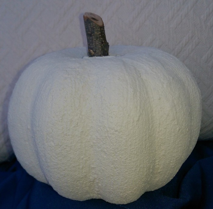 White and chic pumpkin