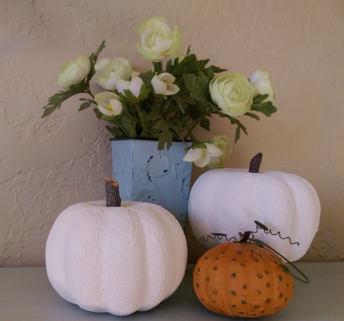 White pumpkins!