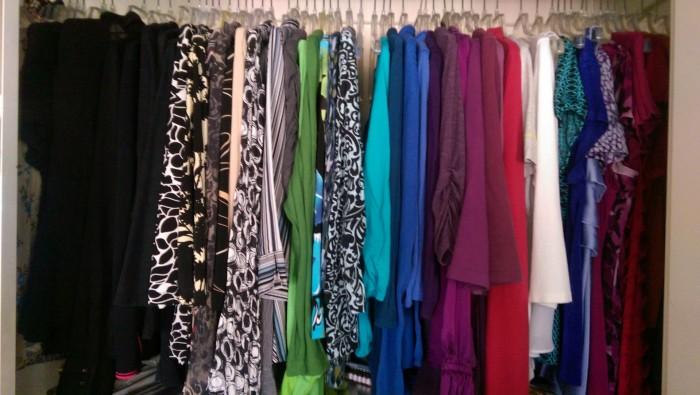 Organize closet by color