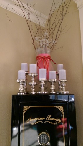 Multiple candles mirrored candlesticks