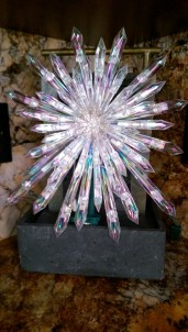Crystal starburst tree topper
