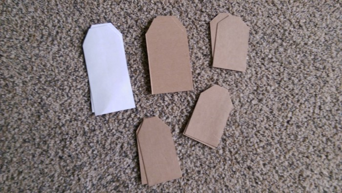 recycled cardboard gift tags