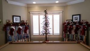 Tall thin Christmas tree decor