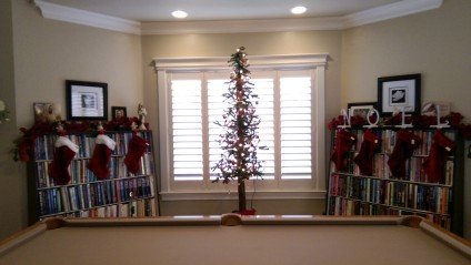 Tall thin Christmas tree decor