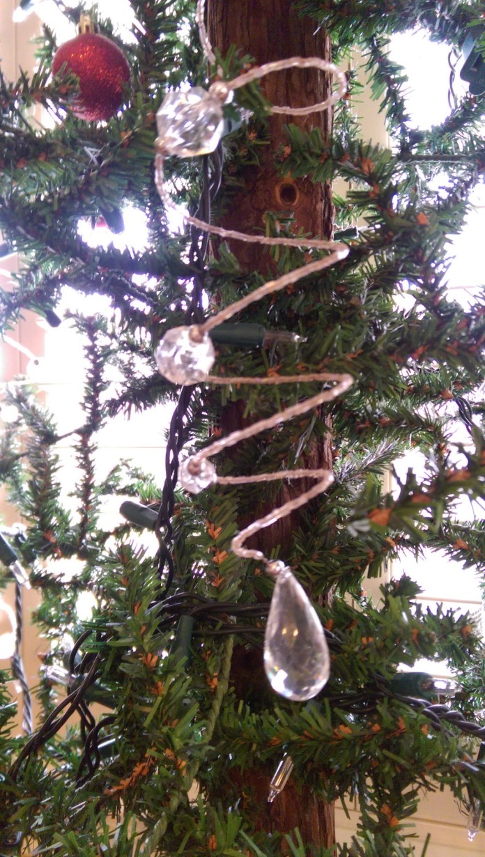 This tree is absolutley dripping with these bead/crystal ornaments