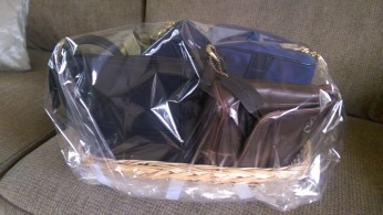 Purses Gift Basket Wrapped