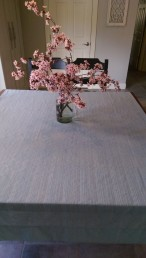 Curtain used as tablecloth