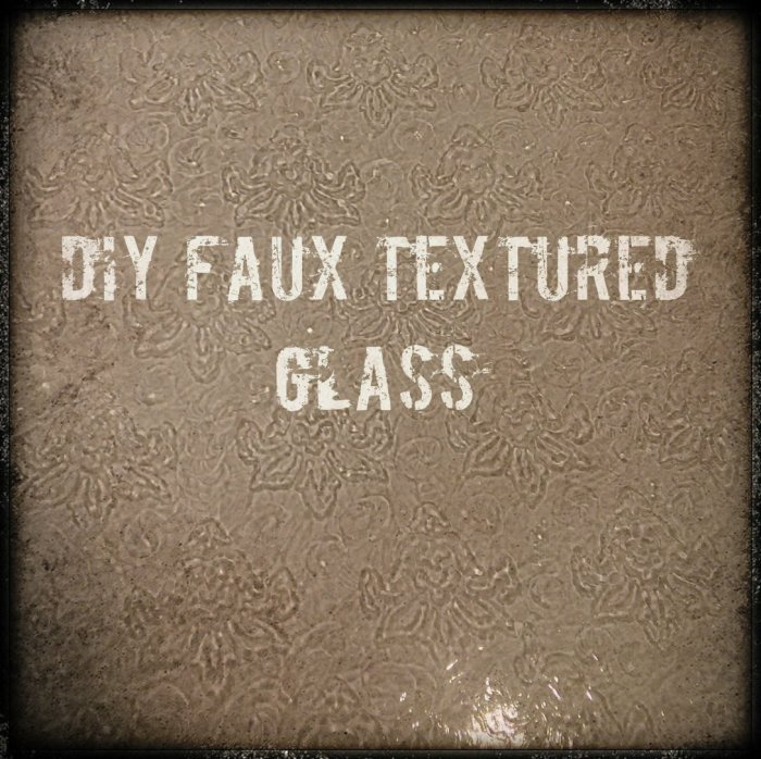 Cover Pic Faux Textured Glass