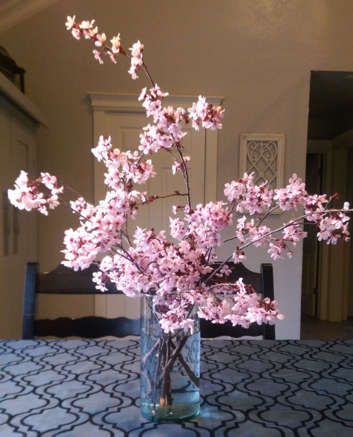 Pink blossoms arrangement