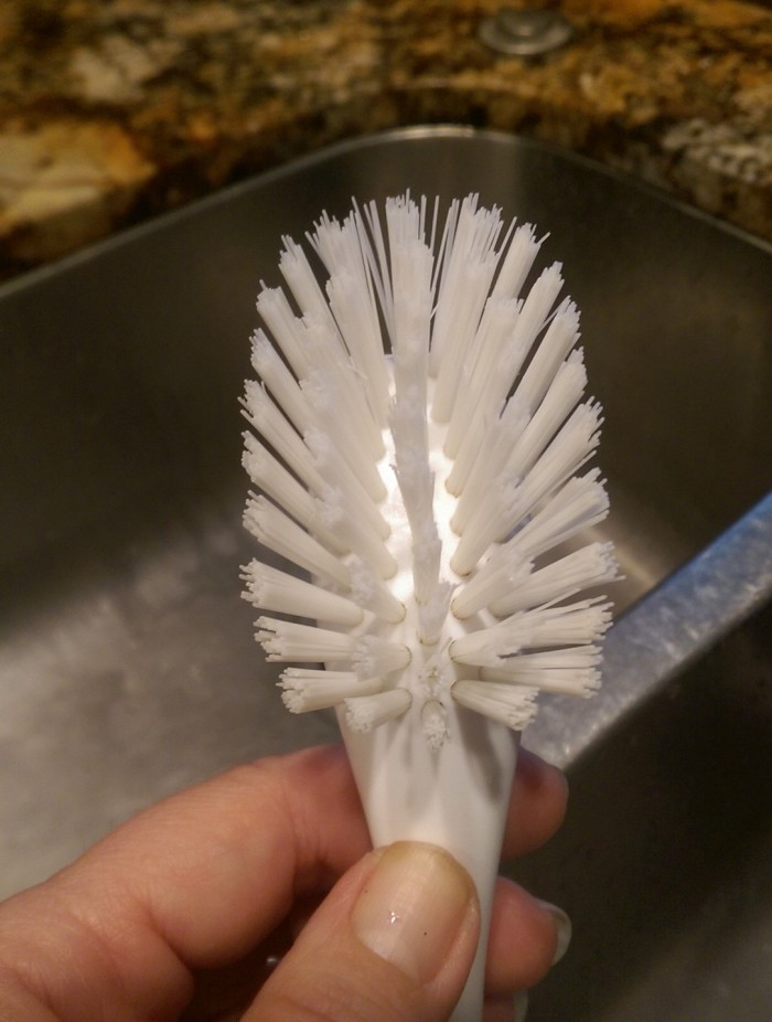 Clean scrub brush