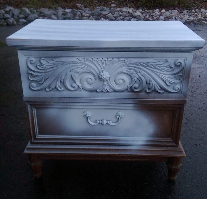 Spray Primed Decorative Nightstand