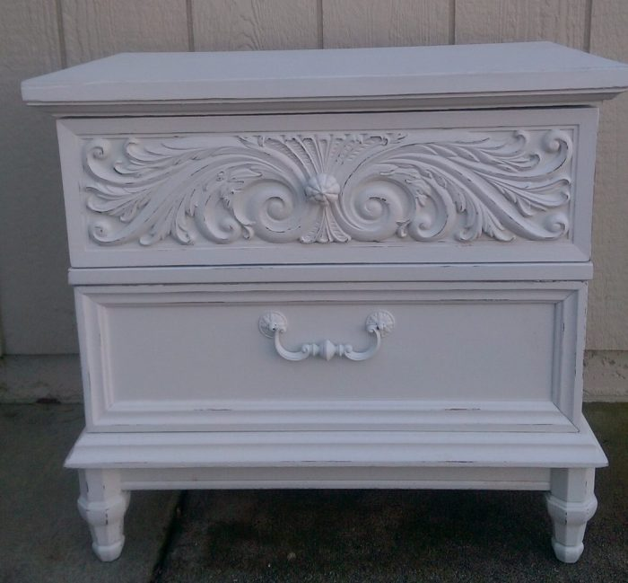Distressed Painted Nightstand