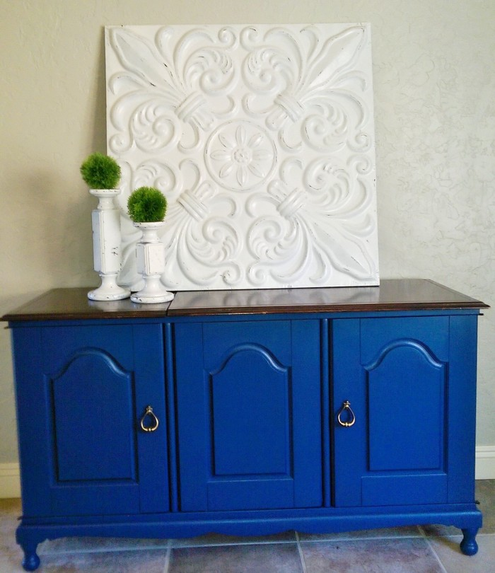 Peacock Blue Cabinet Re-Do