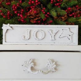 JOY sign Christmas